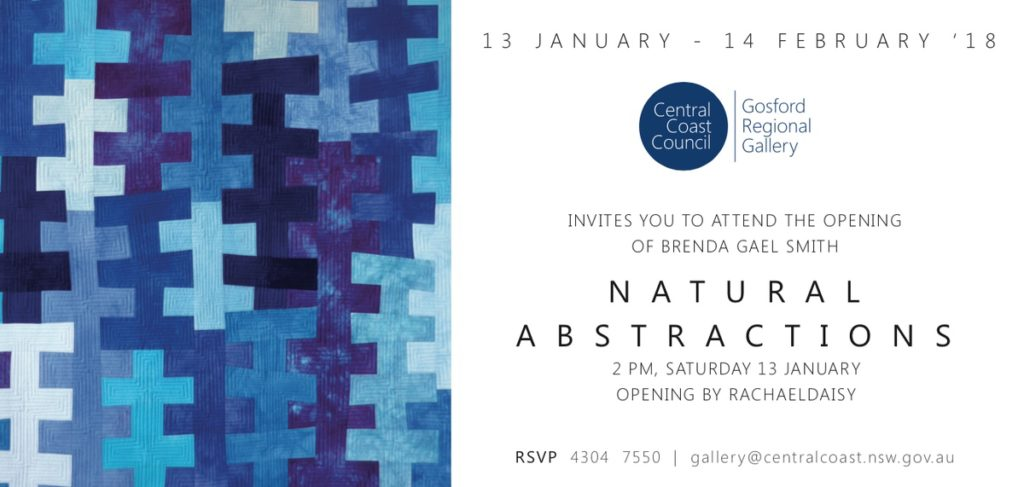 Invitation to Natural Abstractions Exhibition: Brenda Gael Smith