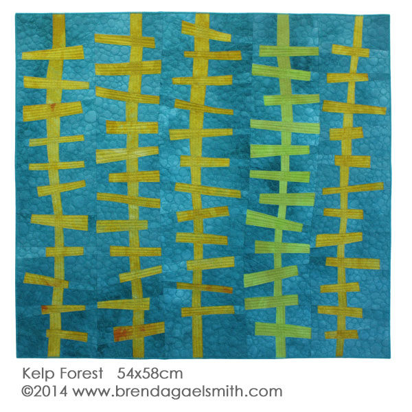 Kelp Forest textile painting Brenda Gael Smith