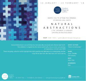 Invitation to Natural Abstractions Exhibition - Brenda Gael Smith