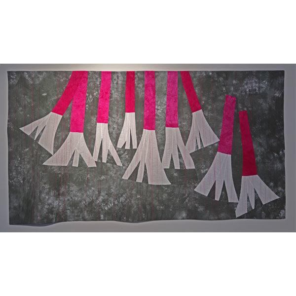 Abundance (Native Fuchsias) textile painting by Brenda Gael Smith
