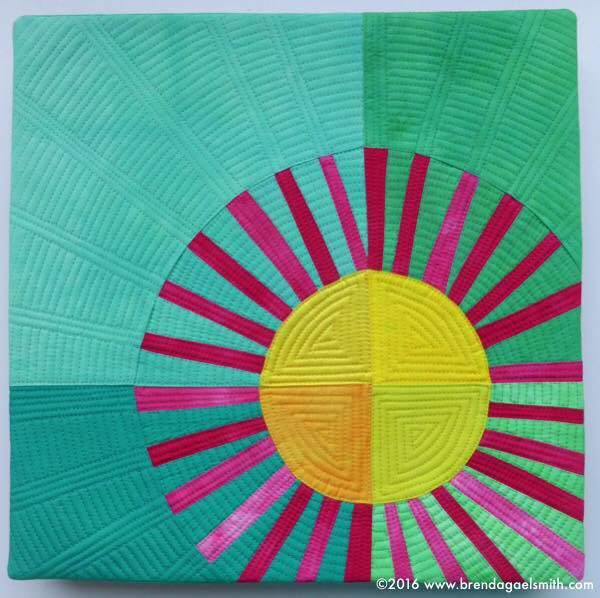 Radiate! (Pigface) - textile painting by Brenda Gael Smith