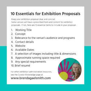 10 Essentials for Exhibition Proposals